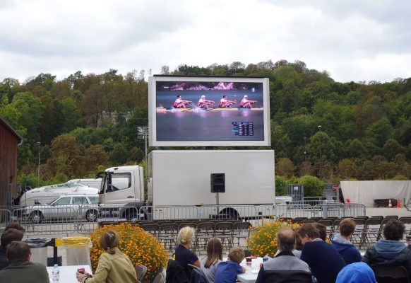 Giant LED screen LM11 rowing