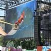 Technicians giant modular LED screen SUPERVISION EURO 2012 Kiev