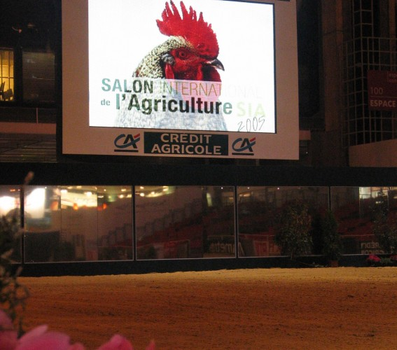 Dressing and branding of a giant LED screen Supervision Salon de l'Agriculture