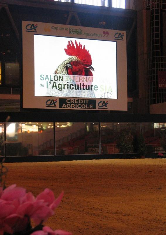 Vestidura de las estructuras / de las pantallas gigantes a led Supervision Salon de l'Agriculture