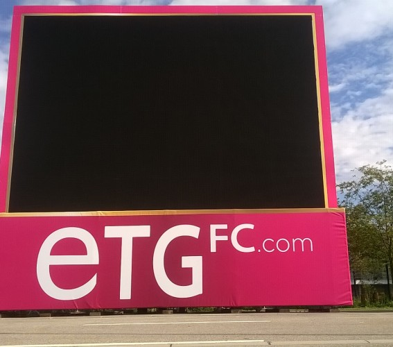 Dressing and branding of giant screens Supervision Annecy Evian Thonon Gaillard Stadium