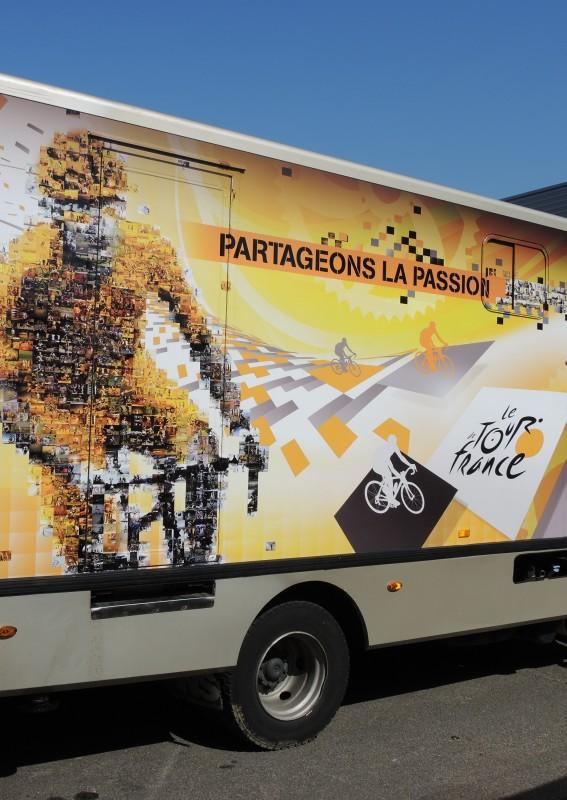 Vestidura de las estructuras / de las pantallas gigantes a led Supervision Tour de France France TV Sport