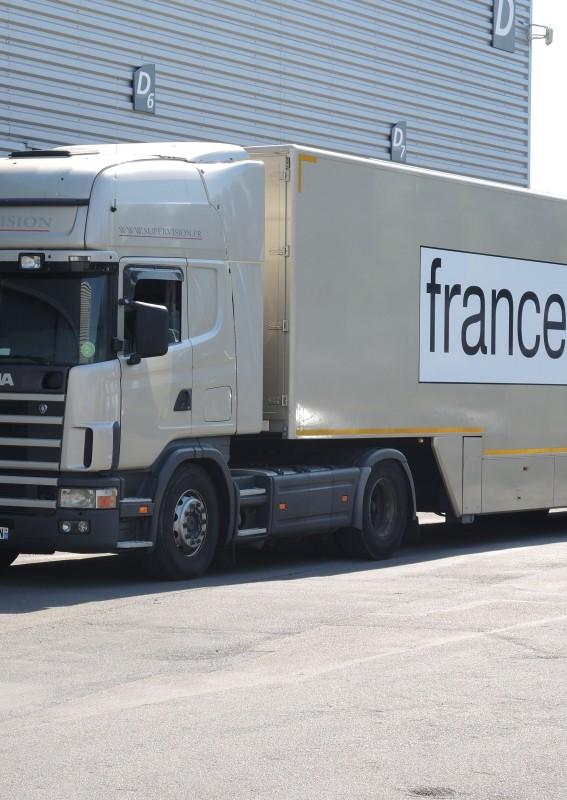 Vestidura de las estructuras / de las pantallas a led gigantes Supervision Tour de France France TV Sport