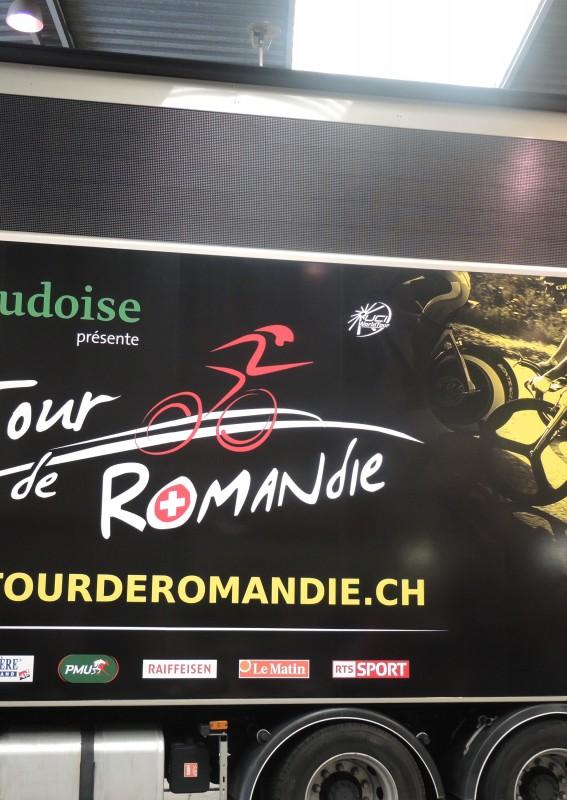 Vestidura de las estructuras / de las pantallas gigantes a led Supervision Tour de Romandie 2015