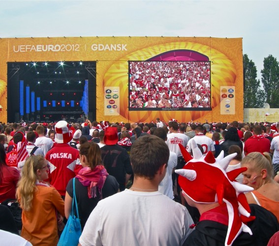 Modular LED screen SUPERVISION EURO 2012 Football Gdansk