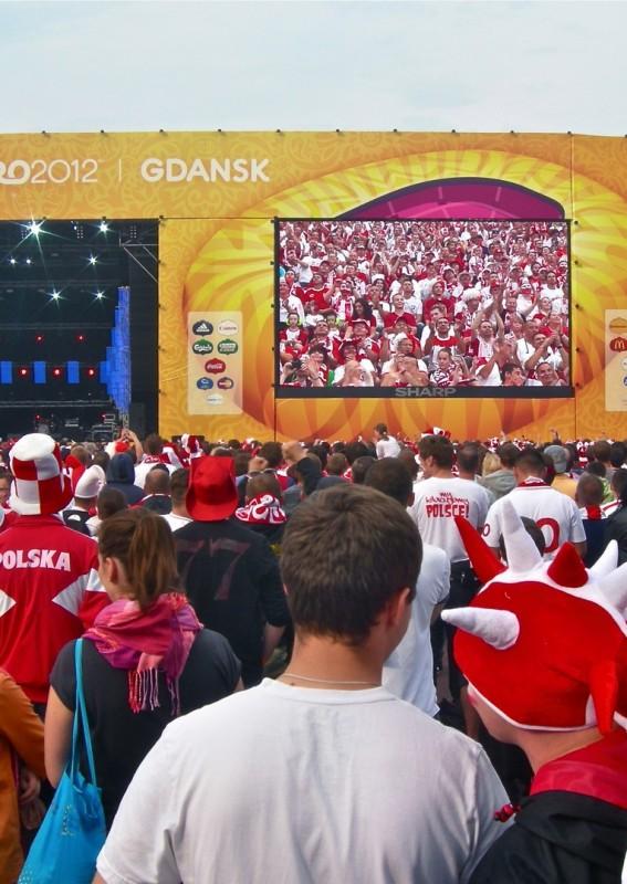Pantalla gigante LED modular SUPERVISION EURO 2012 Football Gdansk