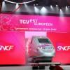 Giant LED modular screen OD10 SUPERVISION Inauguration TGV Est