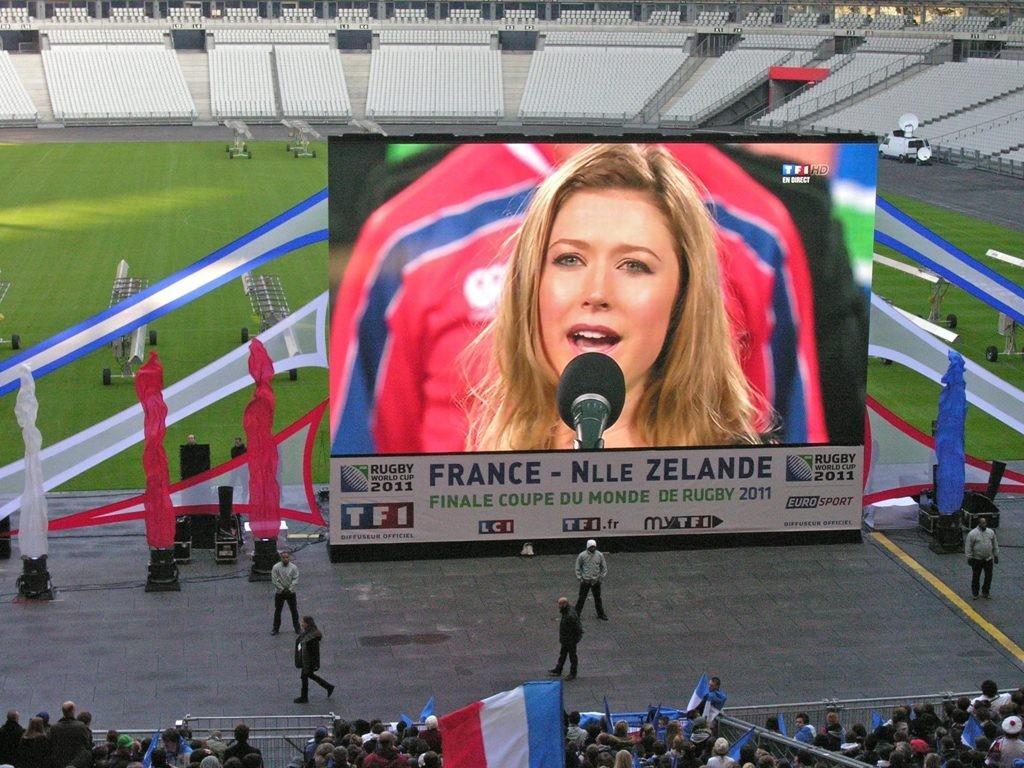 Pantalla gigante led modular supervision 12f retransmission finale coupe monde rugby stade de - Retransmission coupe de france ...