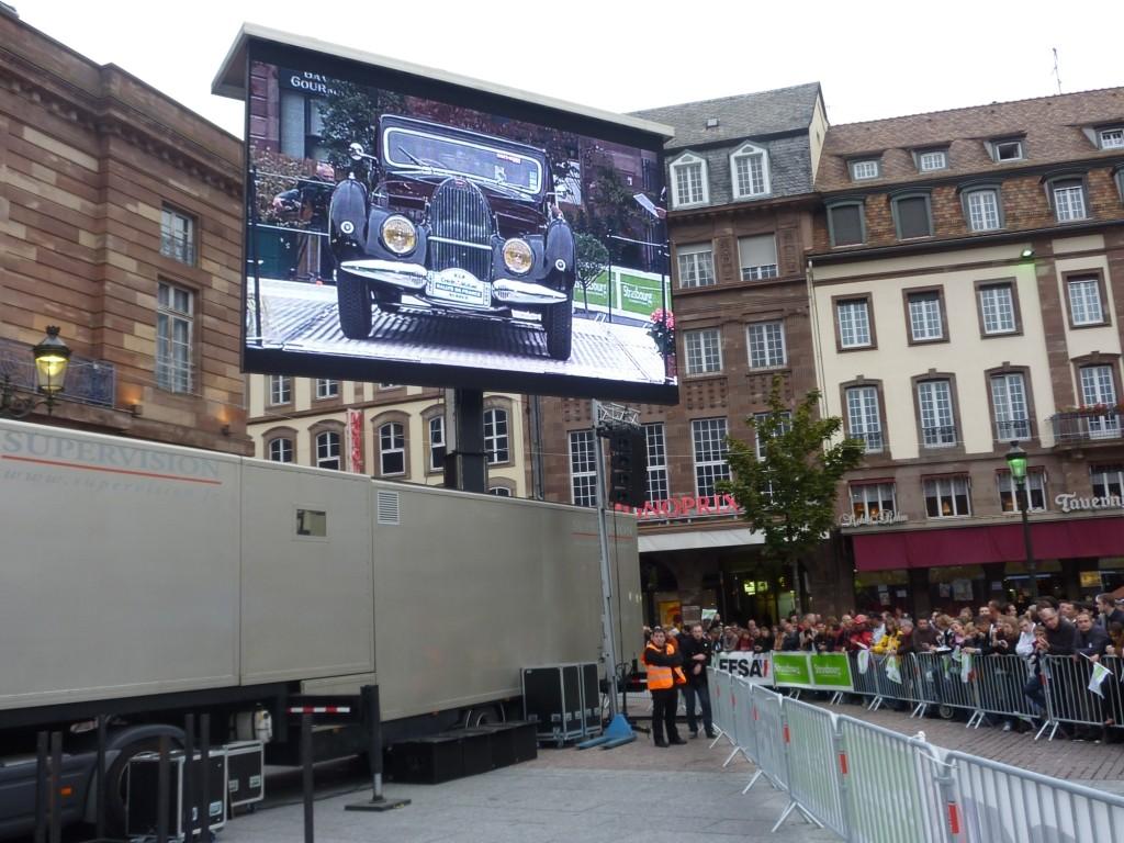 Giant LED screen SUPERVISION LMC40 Championnat du Monde des Rallyes Strasbourg