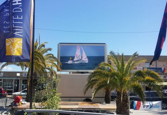 Giant LED screen SUPERVISION LM11 Hyères Sailing WorldCup