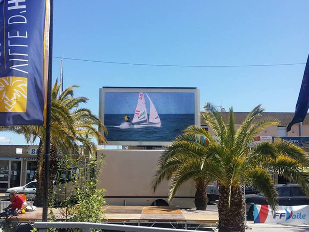 Giant LED screen SUPERVISION LM11 Hyères Sailing WorldCup2