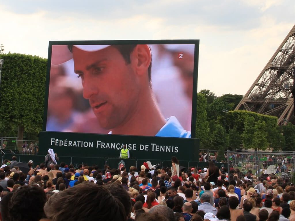 Giant LED screen SUPERVISION SV10 Roland Garros