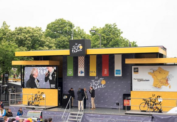 Giant LED screen SUPERVISION Tour de France 2016