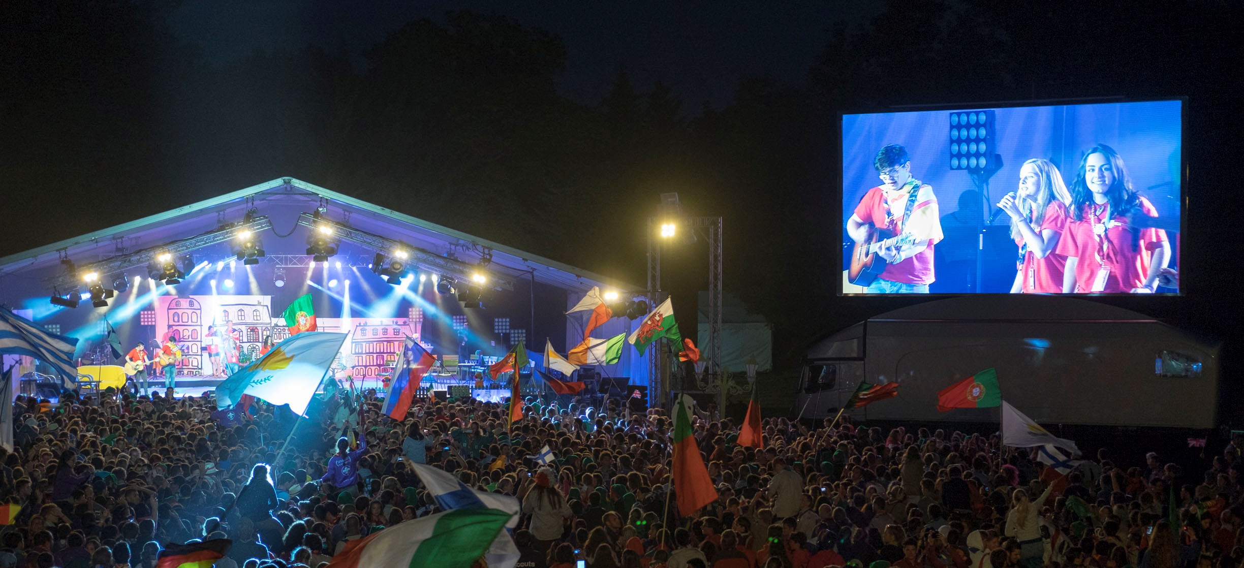 Giant LED screen SUPERVISION LMB46 Roverway 2016
