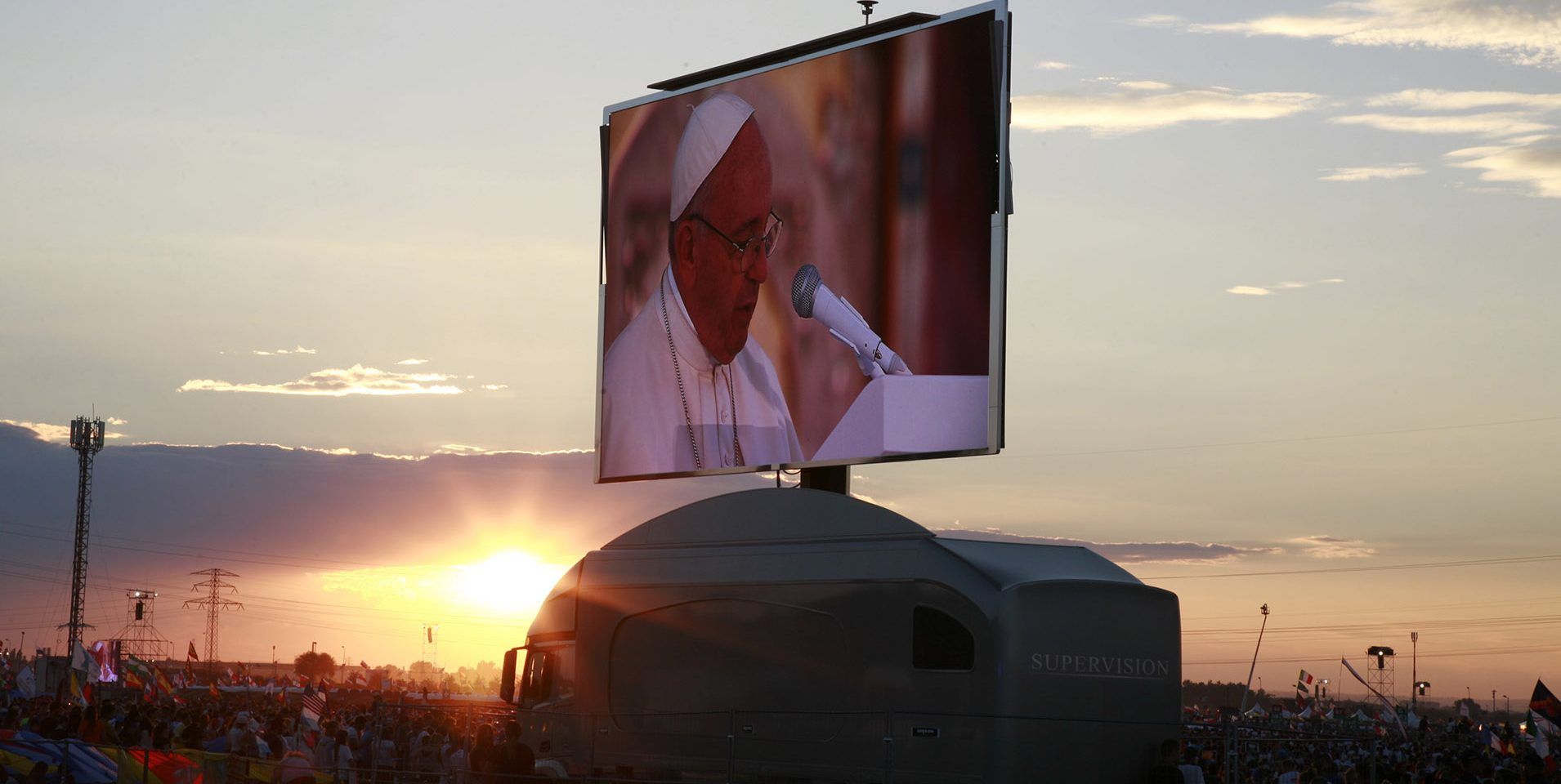 Giant LED screen SUPERVISION LMB46 World Youth Day 2016 Krakow