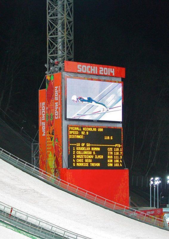 Pantalla gigante LED SUPERVISION Juegos Olímpicos de invierno Sochi 2014