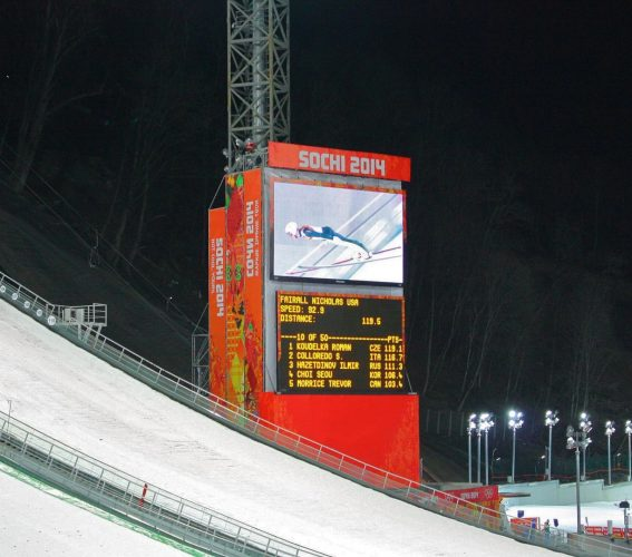 Giant LED screen SUPERVISION Winter Olympic Games Sochi 2014
