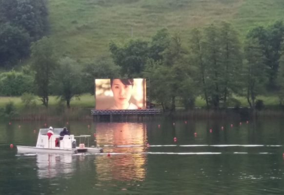 Giant modular LED screen SUPERVISION CH10.6 World Rowing Championships Lucerne Switzerland