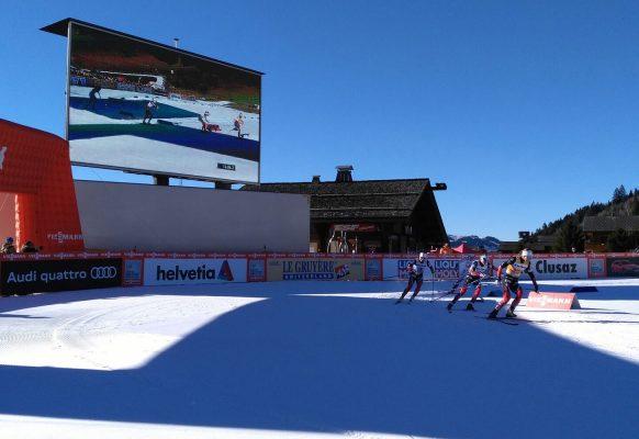 Ecran géant LED SUPERVISION LMC50 Coupe du monde de ski de fond La Clusaz