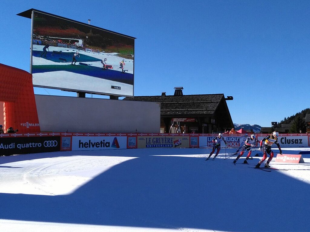 Giant LED screen SUPERVISION LMC50 World Cross-country Skiing Cup La Clusaz