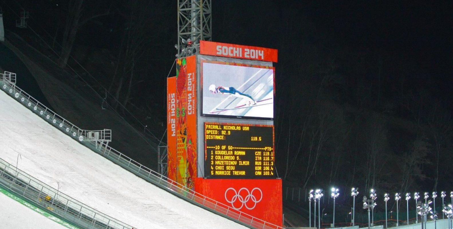 Giant LED screen Olympic Games Sochi
