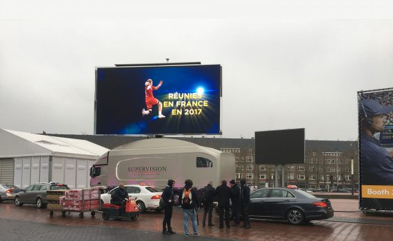 Giant screen Supervision LMB46 ISE Amsterdam 2017