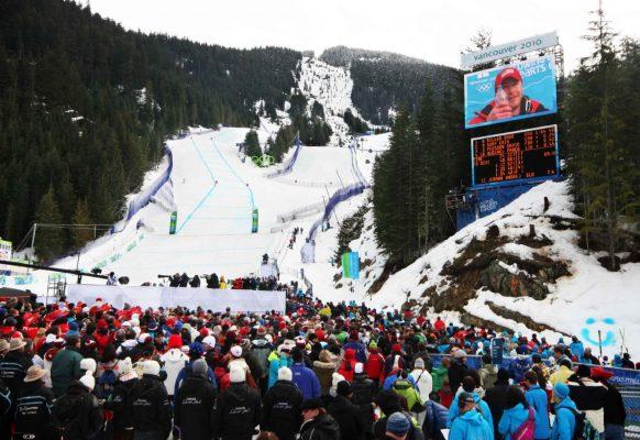 Ecran géant LED Supervision 12F Jeux Olympiques Vancouver 2010 ski