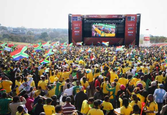 Giant LED screen Supervision 12F Football worldcup South Africa