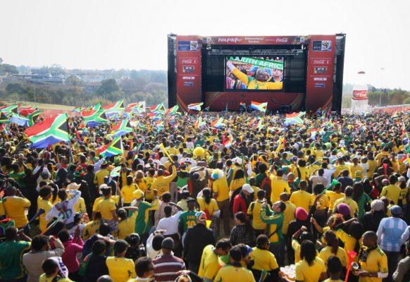 Ecran géant LED Supervision 12F Mondial football Afrique du Sud
