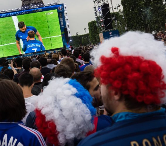 Giant LED screen Supervision EURO 2016 FanZone Paris Tour Eiffel