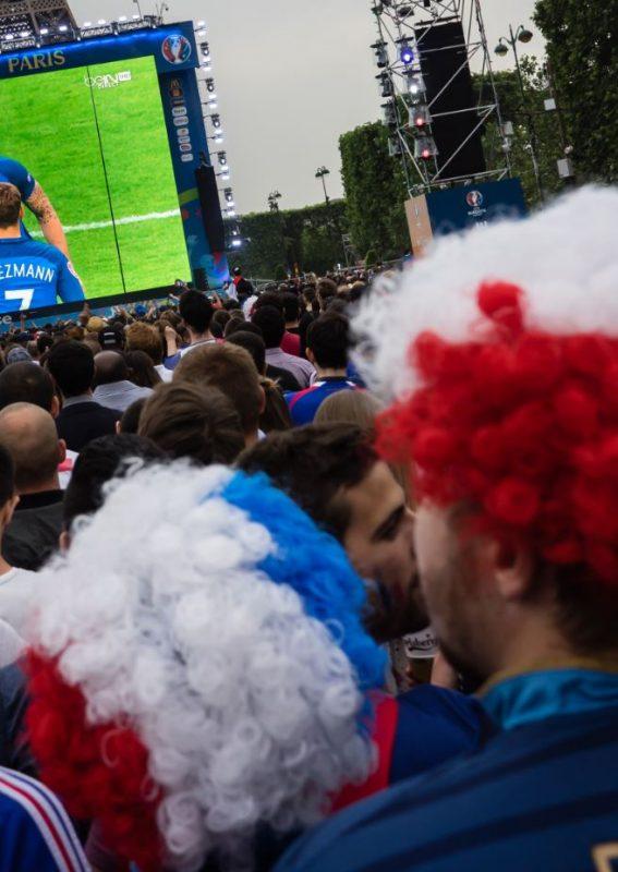 Pantalla gigante LED Supervision EURO 2016 FanZone de Paris Tour Eiffel