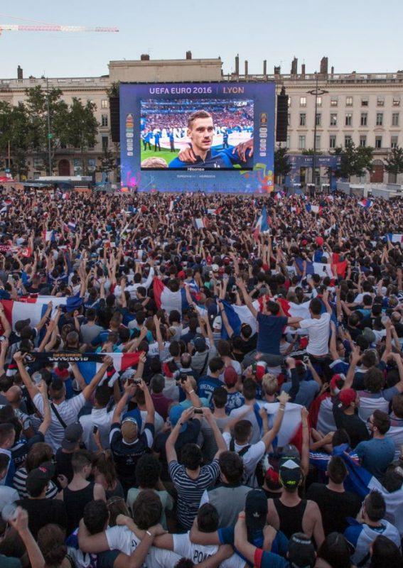 Pantalla gigante LED Supervision EURO 2016 FanZone de Lyon