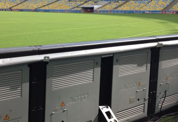 Contour publicitaire LED Supervision SP12 stade de football