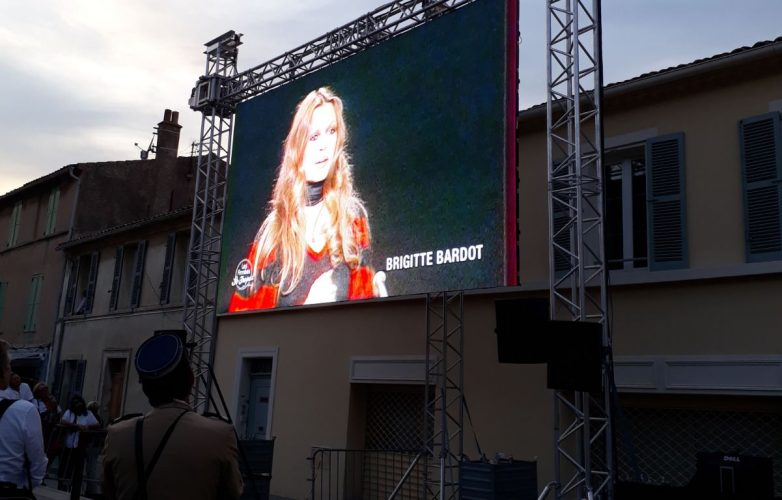 Giant LED screen Supervision for the unveiling of Brigitte Bardot's statue in Saint Tropez