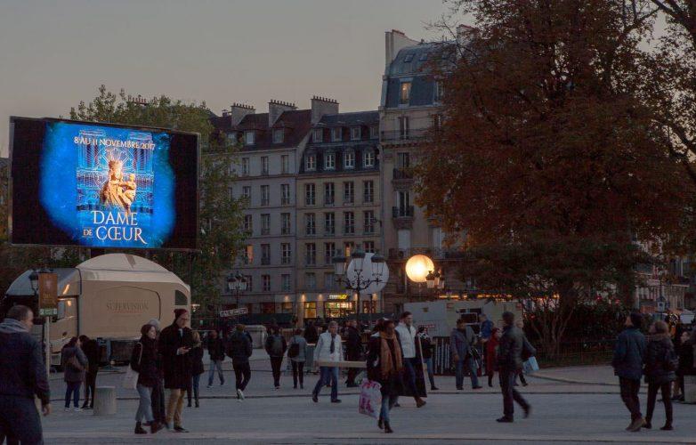 Ecran géant Supervision LMB46 Dame de Coeur Son et Lumière Notre Dame de Paris