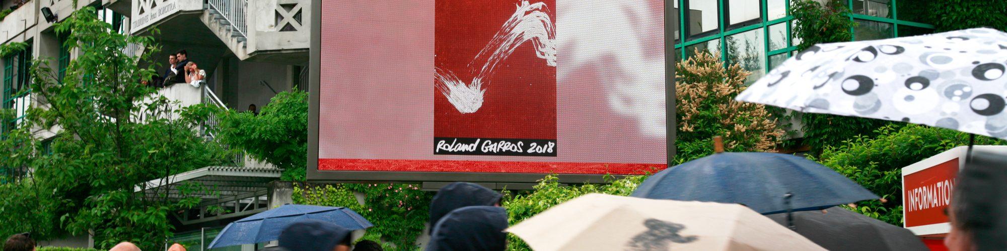 pantalla gigante LED M5.8 Supervision Roland Garros