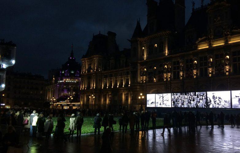 Led-large-video-screen-Supervision-Armistice-11-november-1918-Mairie-Paris-2