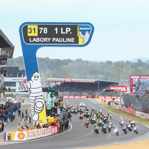 Michelin totemLe Mans circuit